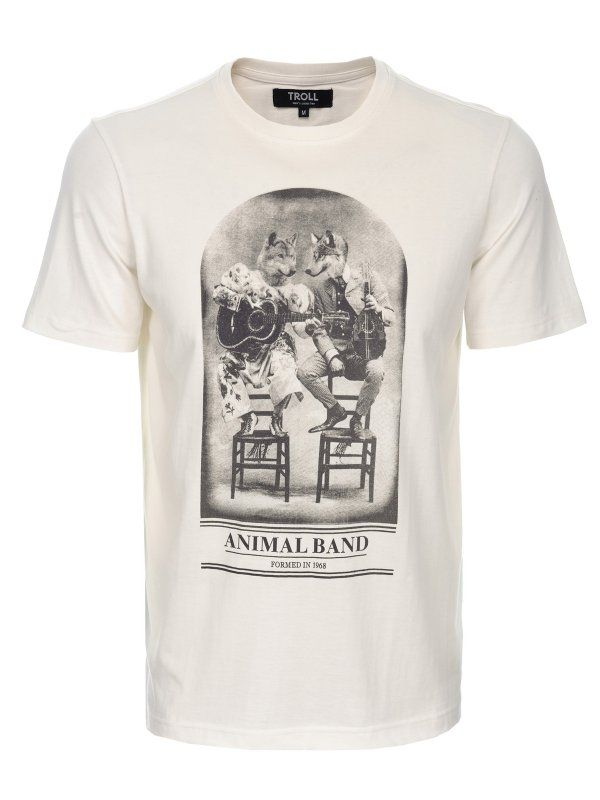 T- shit biały  - t-shirt krótki rękaw - TROLL. TPO0074 Świetna jakość, rewelacyjna cena, modny krój. Obejrzyj też inne t-shirty tej marki.
