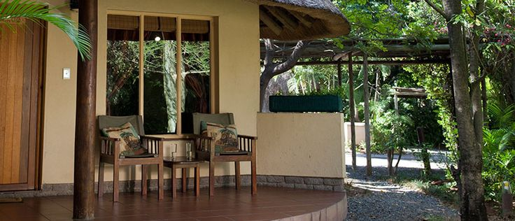 Every Rondavel has its own private veranda to enjoy the beautiful weather in Phalaborwa. #SefapaneMagic