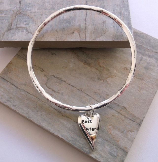 Silver Best Friend Bangle £20.00