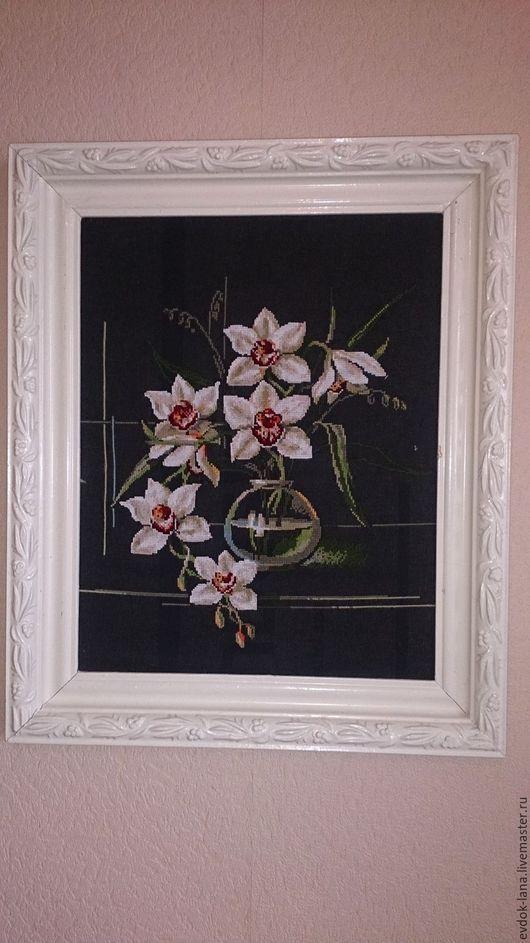 Картины цветов ручной работы. Ярмарка Мастеров - ручная работа. Купить Картина вышивка