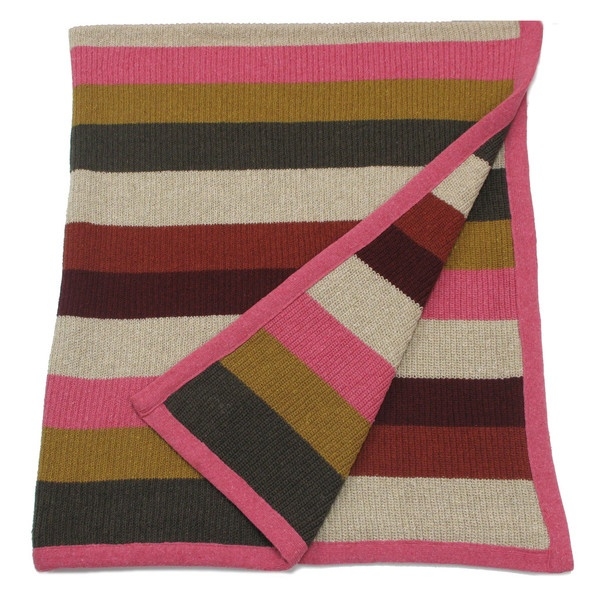 """the eclectic"" blanket in rose"