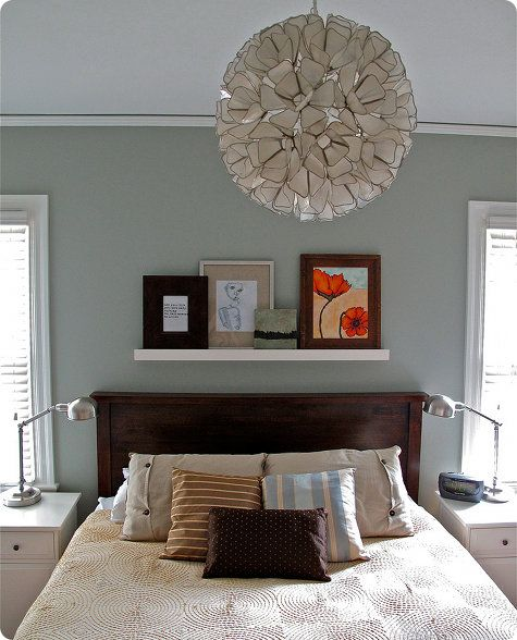 love the wall color, Benjamin Moore-sea haze