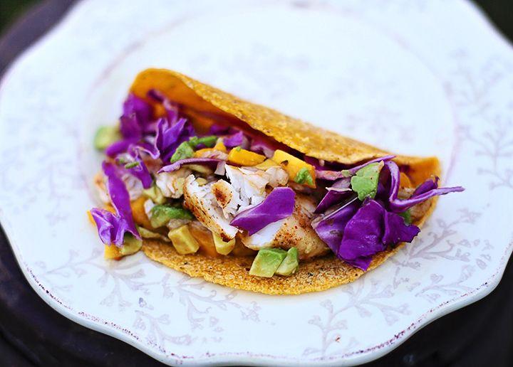 Fish Tacos with Mango Salsa   Food   Pinterest
