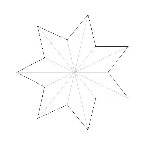 7-Pointed Star: Approximate Construction 1