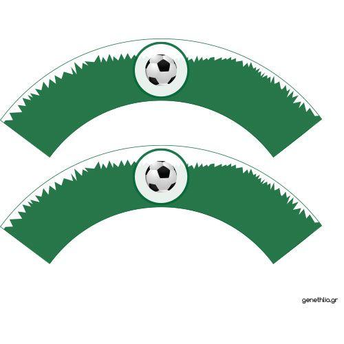 δωρεαν εκτυπωσιμα ποδοσφαιρο χαρτακια cupcakes