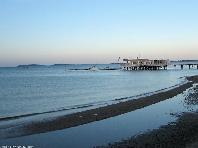 Sunset: Wollaston Beach, MA, USA.