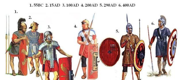 Legionary evolution-The Roman army of the 4th Century A.D. bore little resemblance to that which had followed the eagles of Caesar or Trajan.  Gone were the 5,000 strong legions of pilum-and-gladius armed legionaries,  who once stabbed-and-slashed their way methodically through every enemy they faced.  By the Battle of Adrianople, the Roman armies had become a balanced force of spear-and-javelin (or dart) armed heavy infantry;  supported by elite regiments of javelin or bow armed…