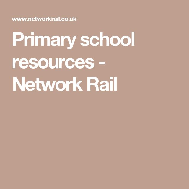 Primary school resources - Network Rail