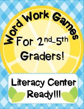 Literacy Center Word Work Games for 2nd-5th... by Sarah Brauhn | Teachers Pay Teachers