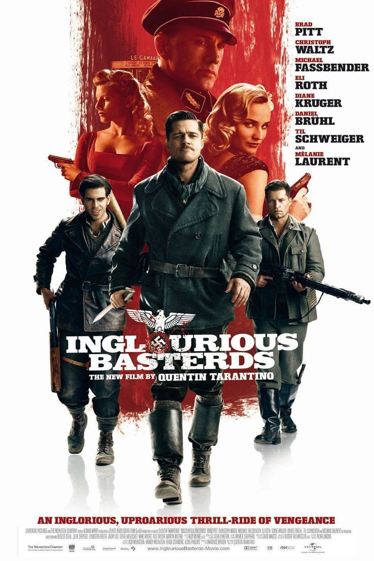 Inglourious Basterds o Bastardos sin Gloria - Película del año 2009 escrita y dirigida por Quentin Tarantino.