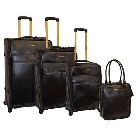 4-Piece Claire Luggage Set in Black, red, or taupe