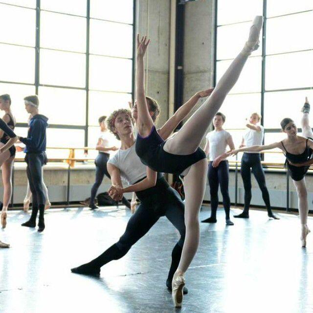 ellison ballet pas de deux intensive; working on grand pas classique pas de deux photo by @dancereportage #ellisonballet
