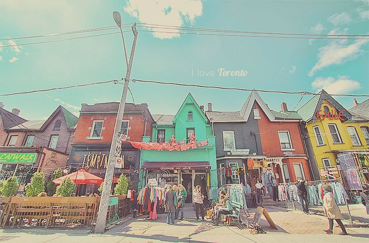 Houses and Shops in Kensington Market Toronto by CharlenePrecious, $29.00