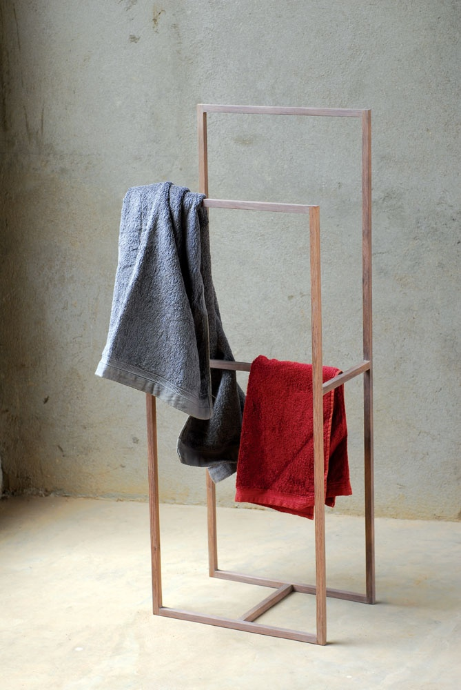 bathroom drying rack