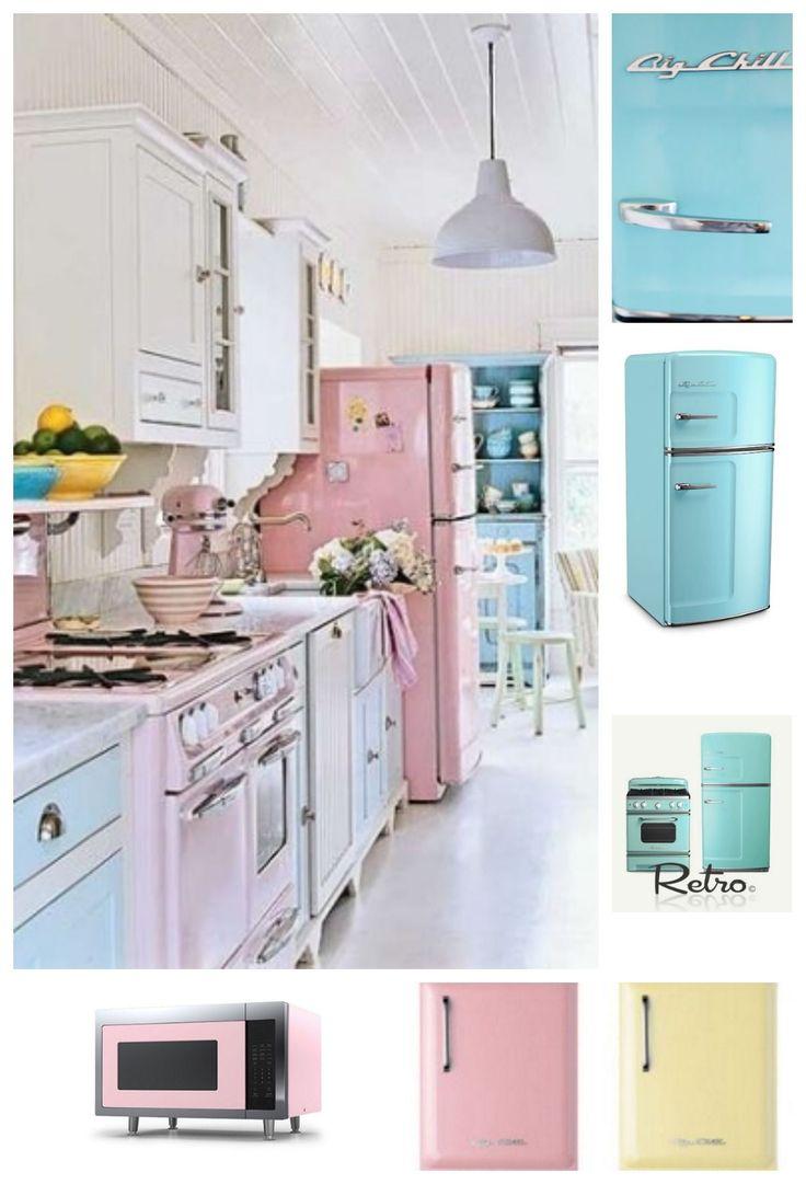 14 best perfect pastel kitchen images on pinterest retro for Modern retro kitchen appliance