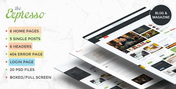 Expresso - A Modern Magazine and Blog #PSD Template - Creative PSD Templates