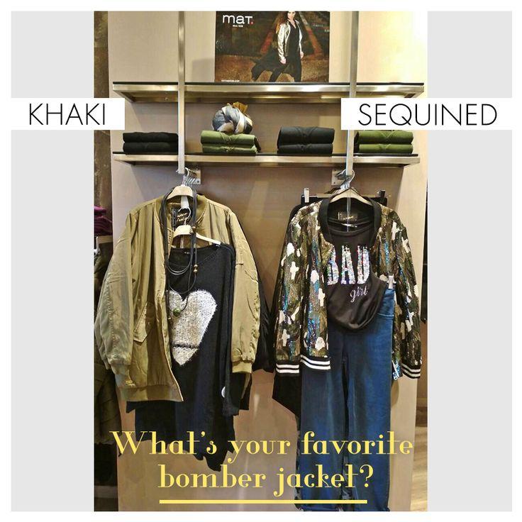 Η απόλυτη τάση της σεζόν: bomber jackets!  Μπες στον κόσμο της mat.fashion, όπου κι αν βρίσκεσαι στην Ελλάδα. Κάνε τώρα τις αγορές σου με 30% έκπτωση έως 18/11! Χακί bomber jacket ➲ code: 684.4008  Bomber jacket με παγιέτες ➲ code: 683.4017  #matfashion #fw1718 #bomberjacket #realsize #fashion #psootd #khaki #sequins #lovematfashion #wearecurves #plussizefashion