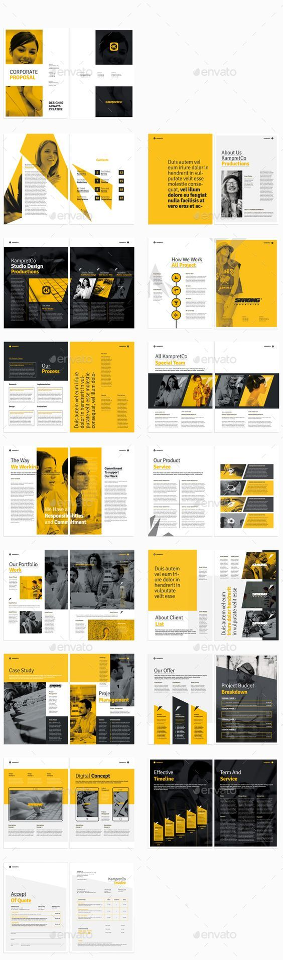 Proposal Template InDesign INDD #design Download:…