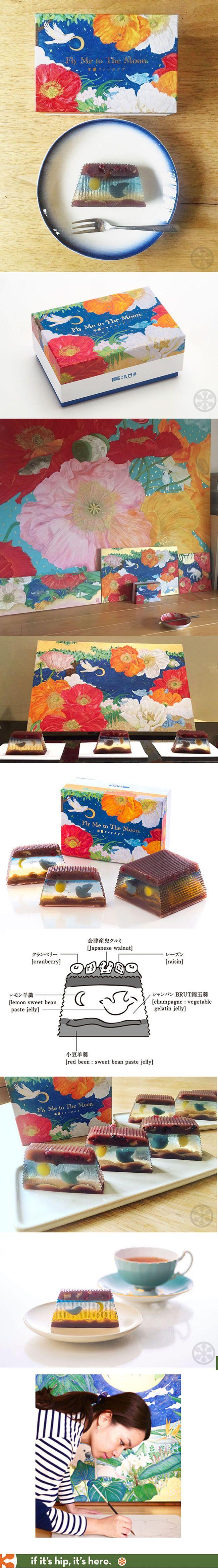 This stunning edible art dessert has pretty packaging to match by Japanese painter Masuda Reika.