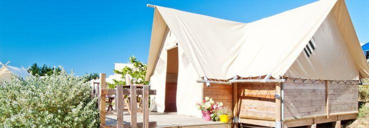 Location vacances Noirmoutier : Fleur de Sel, location saisonnière en camping luxe - Vendee | Domaine Les Moulins