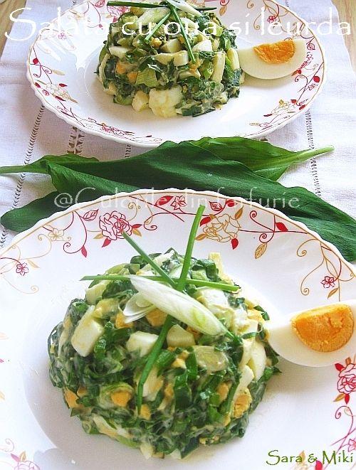 Salata cu oua si leurda ~ Culorile din farfurie