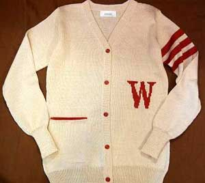 Varsity letterman sweaters - college sweater with initial letter