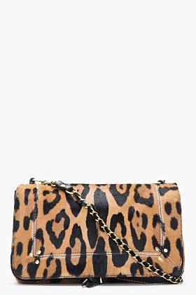JEROME DREYFUSS Tan calf-hair Bobi Chain Shoulder Bag