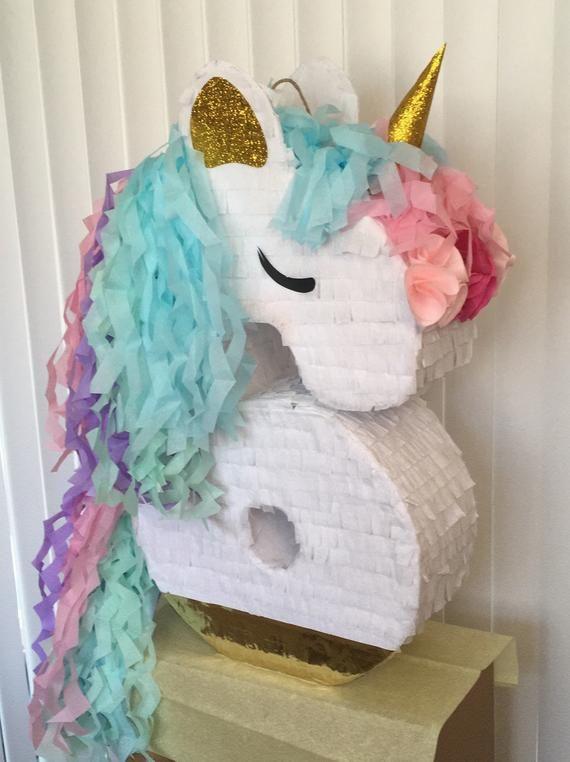 Sale Ready to Ship Unicorn Emoticon Pinata 12 Diameter
