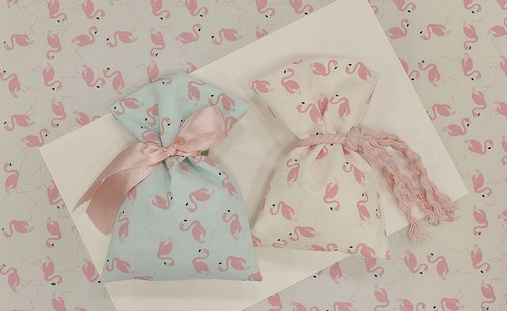 Πουγκί Βαμβακερό Φλαμίνγκο(Flamingos)