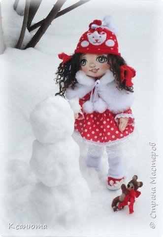 Кукла текстильная-Кудряшка Сью. фото 3