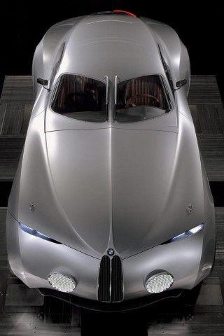 ♂ Silver car BMW Mille Miglia, Top View