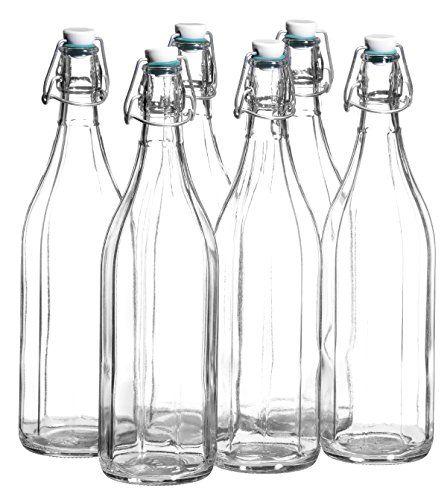 Josef Mäser GmbH, Serie Bügel, Flasche 1 L, mit Bügelverschluss, 10-Kant, im 6er-Set #Josef #Mäser #GmbH, #Serie #Bügel, #Flasche #Bügelverschluss, #Kant,