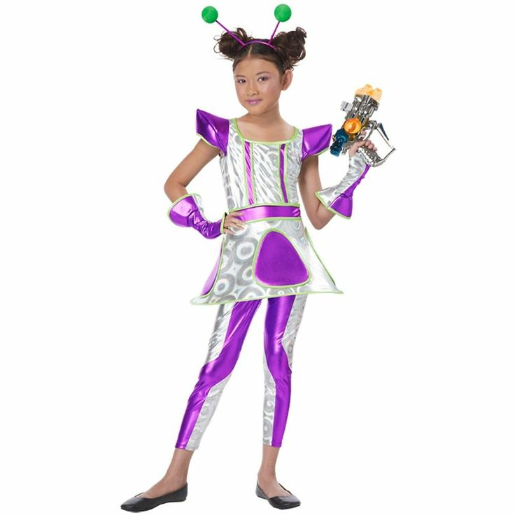 Expert Choice For Alien Antenna Headband Costume: Details About Cosmic Cutie Costume Kids Alien Space Girl