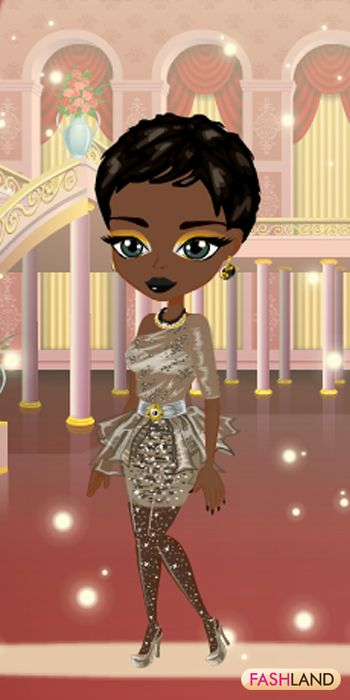 You are a Surprise in the ballroom; Shine on!  #fashland #fashion #passionforfashion #greyeyes #shorthair #bling #shiny #tights #sparkle #sparkly #sparkling #beauty #beautiful #dressup #gamegos #onlinegames #gaming