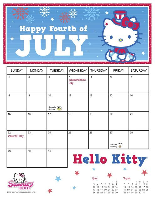 Hello Kitty Monthly Calendar : Best images about ♦months of the year♦ on pinterest