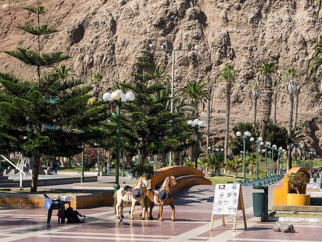 Plaza de Colón (Columbus Square) Arica - Chile - Pacific ocean