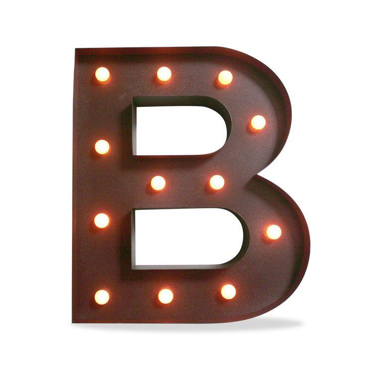 Iluminaci n met lica decorativa letra b decoraci n - Muebles de chapa metalica ...