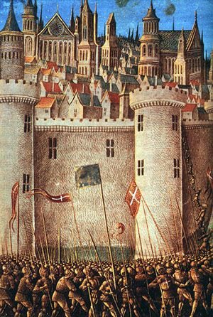 The Siege of Antioch during the First Crusade. Minature by Jean Colombe (c.1490)