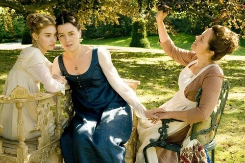 Miss Austen Regrets (2008) with Olivia Williams as Jane Austen and Imogen Poots as Fanny Knight #CostumeDesign by Andrea Galer