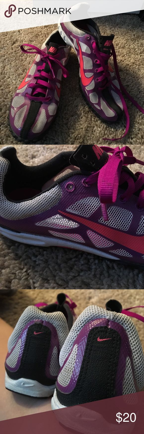 Nike Track and Field Shoes Size 5 Woman's shoe Track and Field Nike shoes see pictures ... very light weight excellent condition Nike Shoes Athletic Shoes