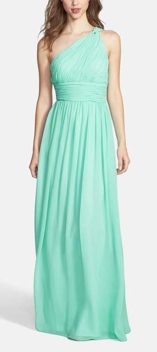 Mint bridesmaid dress: pair with sandals and a pastel bouquet for a beach ceremony