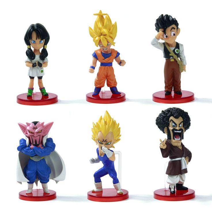 [ $15.99 - 18.99 ] 6pcs Dragon ball Z Action Figures Budokai Son Goku Gohan Vegeta Dragonball PVC Model Toy Japanese Anime Figure Dragon Ball Kai
