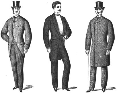 Victorian Men's Clothing - a useful site with all sorts of clothing information for 18c through 1920s