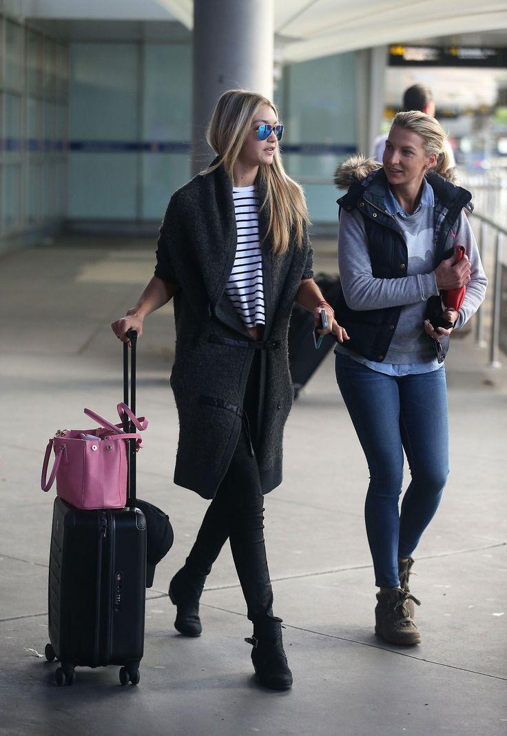 Gigi Hadid Airport Style