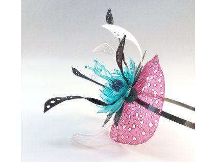 Fascinátor tyrkysový květ