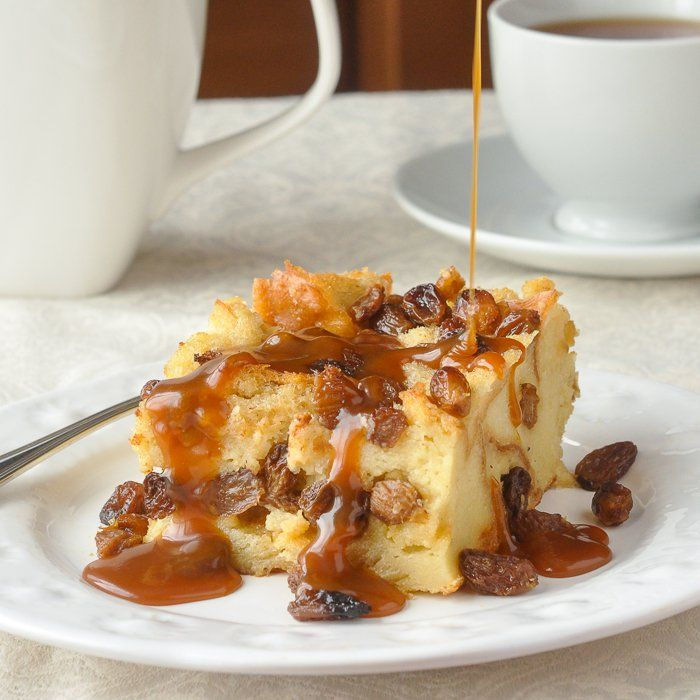 Rum Raisin Bread Pudding - an old fashioned favourite! - Rock Recipes