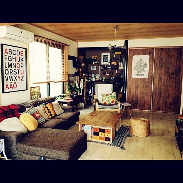 男前も可愛いも好き/りんご箱/壁紙屋本舗/DIY/和室を改造/中古住宅…などのインテリア実例 - 2015-03-21 21:22:28 | RoomClip(ルームクリップ)