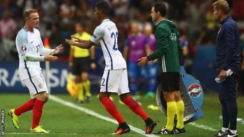 """Wayne Rooney's England career is """"nowhere near over"""" despite being dropped from the squad says Manchester United team-mate Marcus Rashford.  England travel to Scotland for a World Cup qualifier on Saturday and face France in a friendly three days later. Rooney 31 is England's all-time leading goalscorer with 53 in 119 appearances but has been overlooked by coach Gareth Southgate for the games. """"Wayne is a massive influence around the whole squad"""" said Rashford 19. """"He still has a lot to do…"""