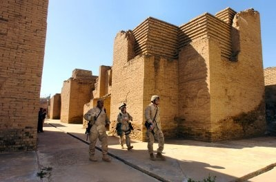 Places to see before they disappear:  The ruins of the ancient city of Babylon in Iraq may not be around for much longer due to ongoing war