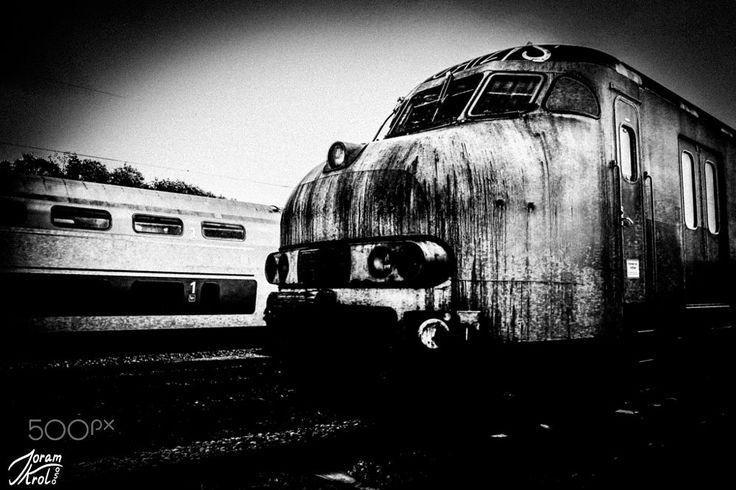 Train waiting for demolition. by Joram Krol on 500px